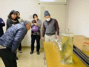 標本を見ながら解説される内藤先生