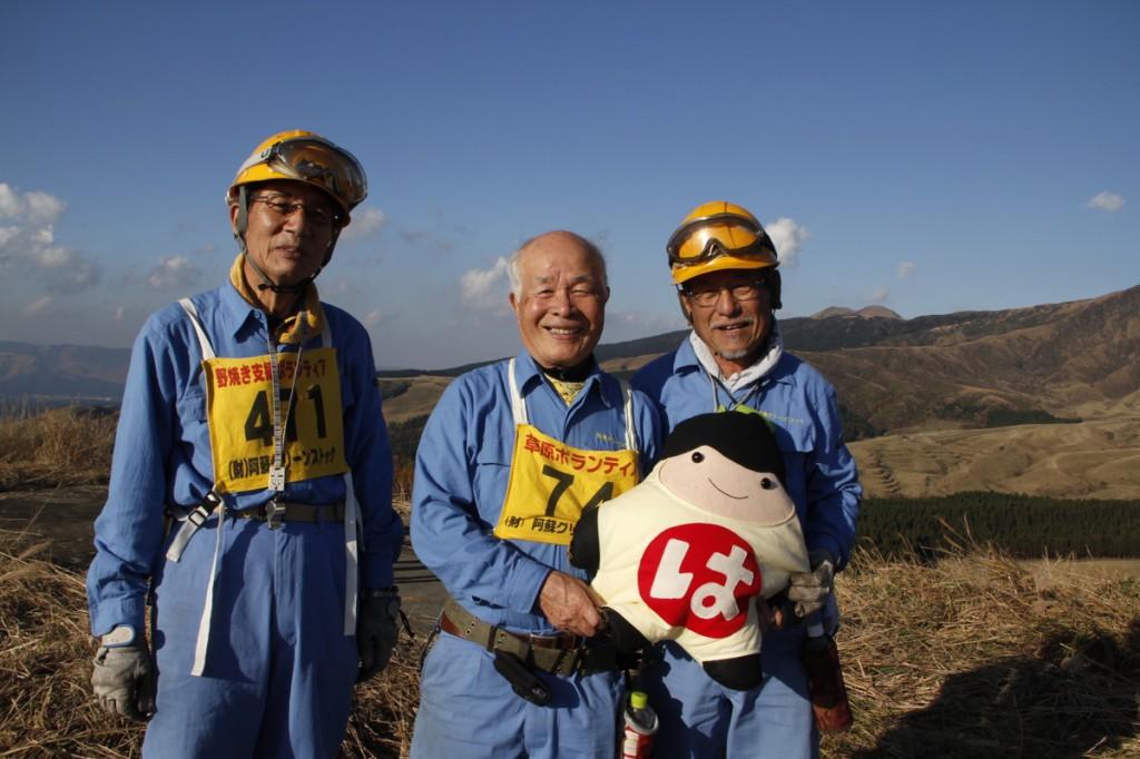 ボランティアさんと一緒に撮ってもらったよ。福岡から参加されているとのこと。
