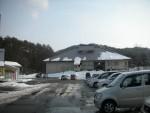 青空の雪景色